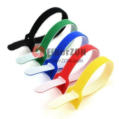 25pcs/Bag 10in.L x 0.5in.W T type Magnetic Velcro Cable TieColorful