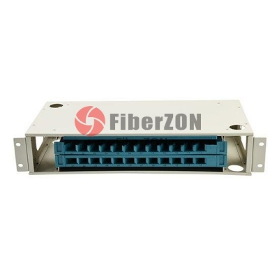 24 Fibers 19'' 2U Rack Mount Optical Distribution Frame (ODF) , Unloaded