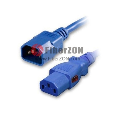 1.8m(6ft) 18AWG 250V/10A Power Cord (Locking C14 to C13), Blue