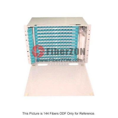 144 Fibers 19'' Rack Mount Optical Distribution Frame (ODF) , Unloaded