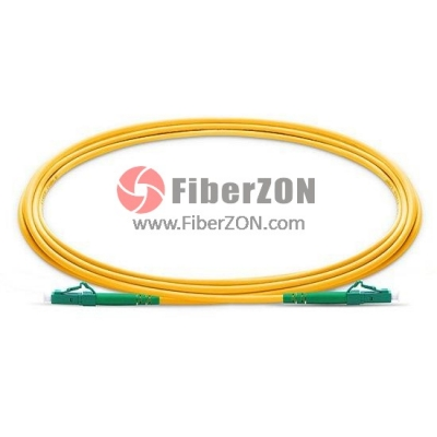 2M LC APC to LC APC Simplex 2.0mm LSZH 9/125 Single Mode Fiber Patch Cable