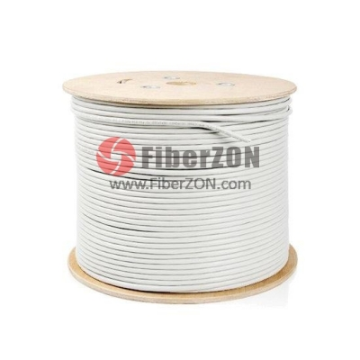100m (328ft) Spool Cat5e Unshielded(UTP) Solid PVC Bulk Ethernet CableWhite