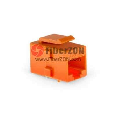 Cat5e RJ45 (8P8C) Unshielded Coupler Keystone Insert Module Orange