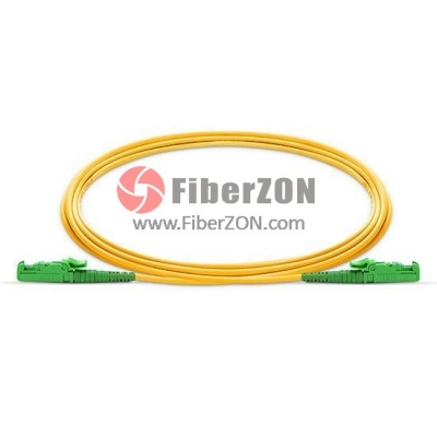 E2000 APC to E2000 APC Simplex PVC/LSZH/OFNP 9/125 Single Mode Fiber Patch Cable