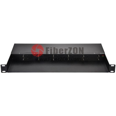Mini Media Converter Chassis, 1U Rack Mount, 12 Slots, Dual Power AC 220V