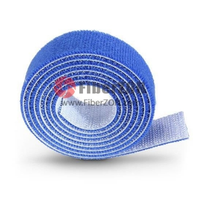 25m/Roll 1000in.L x 0.48in.W Back to Back Magnetic Velcro Cable Tie Blue