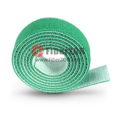 25m/Roll 1000in.L x 0.48in.W Back to Back Magnetic Velcro Cable TieGreen