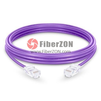 Cat5e Nonbooted Unshielded (UTP) Ethernet Network Patch Cable, Purple PVC, 10m (32.81ft)