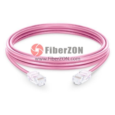 Cat6 Nonbooted Unshielded (UTP) Ethernet Network Patch Cable, Pink PVC, 60m (196.85ft)