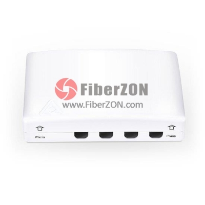 4 Fibers FTB0104B Wall Mounted Fiber Terminal Box as Distribution Box Without Pigtails and Adapters