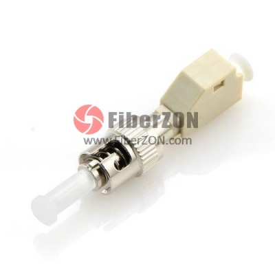 LC Female to ST Male Simplex 62.5/125m Fiber Optic Adapter