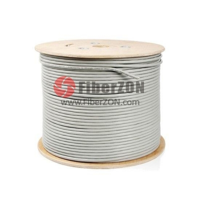 305m (1000ft) Spool Cat5e Unshielded(UTP) Solid PVC Bulk Ethernet CableGray