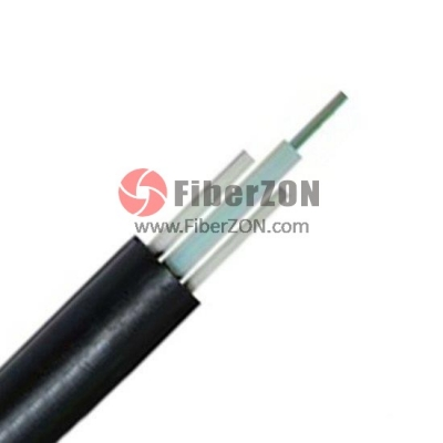 24 Fibers Singlemode 9/125 OS2, SingleJacket, Central Loose Tube, FRP Strength Member, Waterproof Outdoor Cable GYFXTY