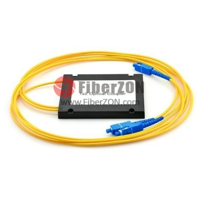 1X2 FBT Splitter Singlemode Single Window 0.9mm Fiber with ABS Box, SC/UPC