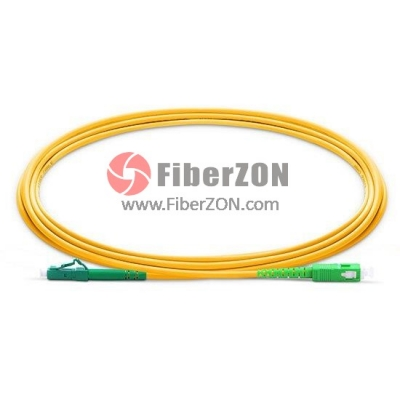 2M LC APC to SC APC Simplex 2.0mm LSZH 9/125 Single Mode Fiber Patch Cable