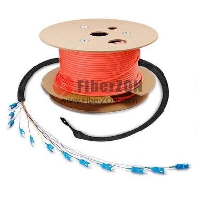 24 Fibers Custom Indoor/Outdoor Multimode 50/125 OM2 PreTerminated Assembly