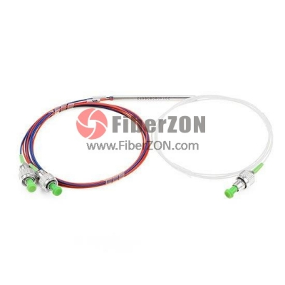 1X2 FBT Splitter Singlemode Dual Window 0.9mm Fiber with Loose Tube, FC/APC
