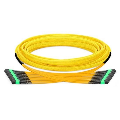 96 Fibers Single Mode 12 Strands MPO Trunk Cable 3.0mm LSZH/Riser