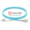 1M LC UPC to SC UPC Duplex 2.0mm PVC(OFNR) 10G OM3 Bend Insensitive Fiber Patch Cable