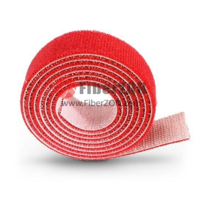 25m/Roll 1000in.L x 0.48in.W Back to Back Magnetic Velcro Cable TieRed