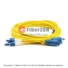 5M LC UPC to SC UPC Duplex 2.0mm LSZH SMF Bend Insensitive Fiber Patch Cable