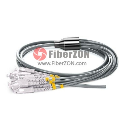 12fiber 3.0mm 50/125 OM2 Multimode LC/SC/ST/FC Armored Bunch Fiber Optic Pigtail