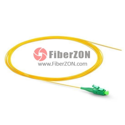 1M Simplex LC/APC 9/125 Singlemode Fiber Optic Pigtail 0.9mm PVC Jacket