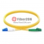 2m LC APC to LC UPC Duplex 2.0mm PVC(OFNR) SMF Bend Insensitive Fiber Patch Cable