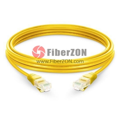 Cat5e Snagless Unshielded (UTP) Ethernet Network Patch Cable, Yellow LSZH, 60m (196.85ft)