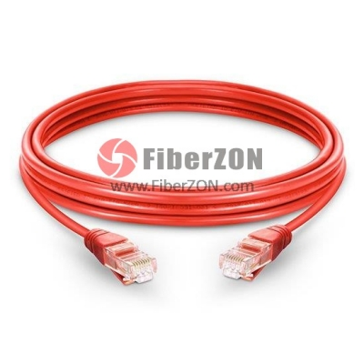 Cat5e Snagless Unshielded (UTP) Ethernet Network Patch Cable, Red LSZH, 60m (196.85ft)
