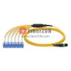 10M MTP Female to 6 LC UPC Duplex 12 Fibers OS2 9/125 Singlemode Harness Cable, Polarity A, LSZH Bunch