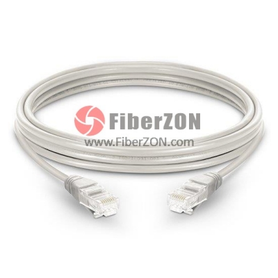 Cat5e Snagless Unshielded (UTP) Ethernet Network Patch Cable, White LSZH, 60m (196.85ft)