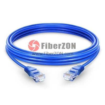 Cat5e Snagless Unshielded (UTP) Ethernet Network Patch Cable, Blue LSZH, 60m (196.85ft)