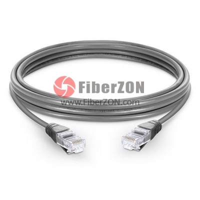 Cat5e Snagless Unshielded (UTP) Ethernet Network Patch Cable, Gray LSZH, 60m (196.85ft)