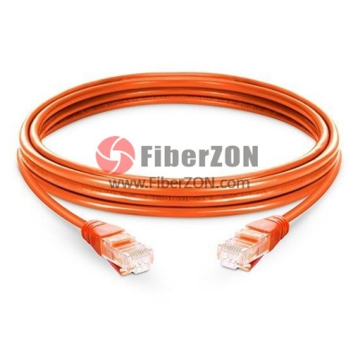 Cat5e Snagless Unshielded (UTP) Ethernet Network Patch Cable, Orange LSZH, 60m (196.85ft)