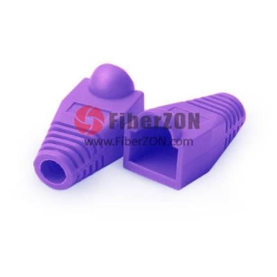 RJ45 Snagless Boot Cover 7.5mm OD Purple, 50/Pack