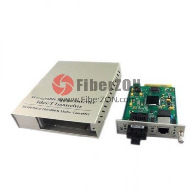 Standalone Managed Gigabit Ethernet Media Converter, 1x 10/100/1000BaseT RJ45 to 1x 1000BaseX SC, Dual Fiber, 1310nm 20km