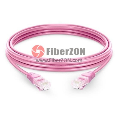 Cat5e Snagless Unshielded (UTP) Ethernet Network Patch Cable, Pink LSZH, 60m (196.85ft)