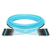 40M MTP Male to MTP Male 48 Fibers 10G OM3 50/125 Multimode HD Trunk Cable, Polarity A, LSZH Bunch