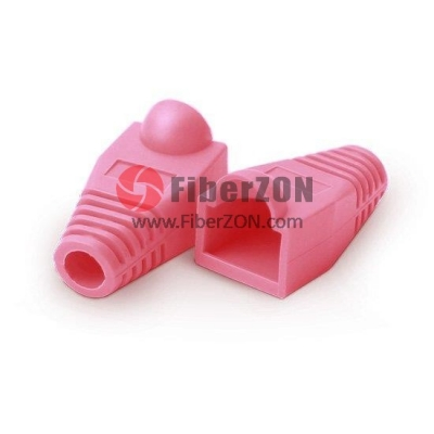 RJ45 Snagless Boot Cover 6.5mm OD Pink, 50/Pack