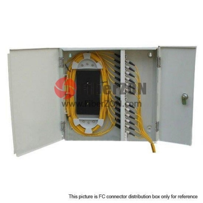 24 Fibers Indoor Wall Mountable Fiber Terminal Box as Distribution Box FS(05)A24A24C